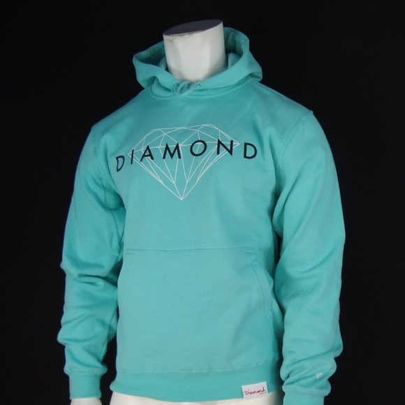 Brand New Diamond Supply Co Un Polo Hooded Pullover Navy Size S-XL